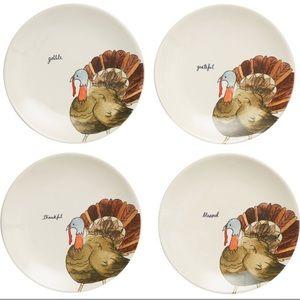 Rae Dunn thanksgiving appetizer plate set turkey